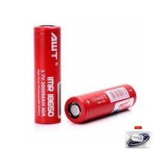 Lucky AWT Battery IMR 18650 3.7V 3000Mah 40A Vape Baterry/Batrei Rokok Elektrik / 1Pcs + Free Ikat Rambut Polkadope - 1 Pcs