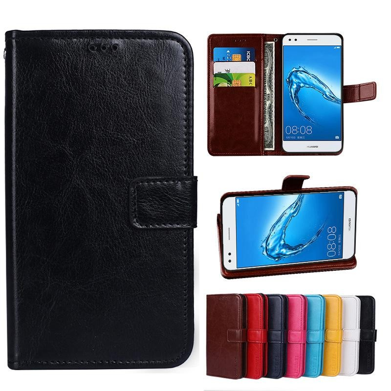 Lucky Clover PU Leather Flip Magnet Dompet Dudukan Kartu Slot Case Cover untuk Samsung Galaxy C5-Intl