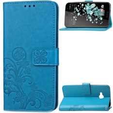 Lucky Clover PU Kulit Flip Magnet Dompet Dudukan Slot Kartu Pelindung Cover untuk HTC U Bermain (Hitam) -Intl
