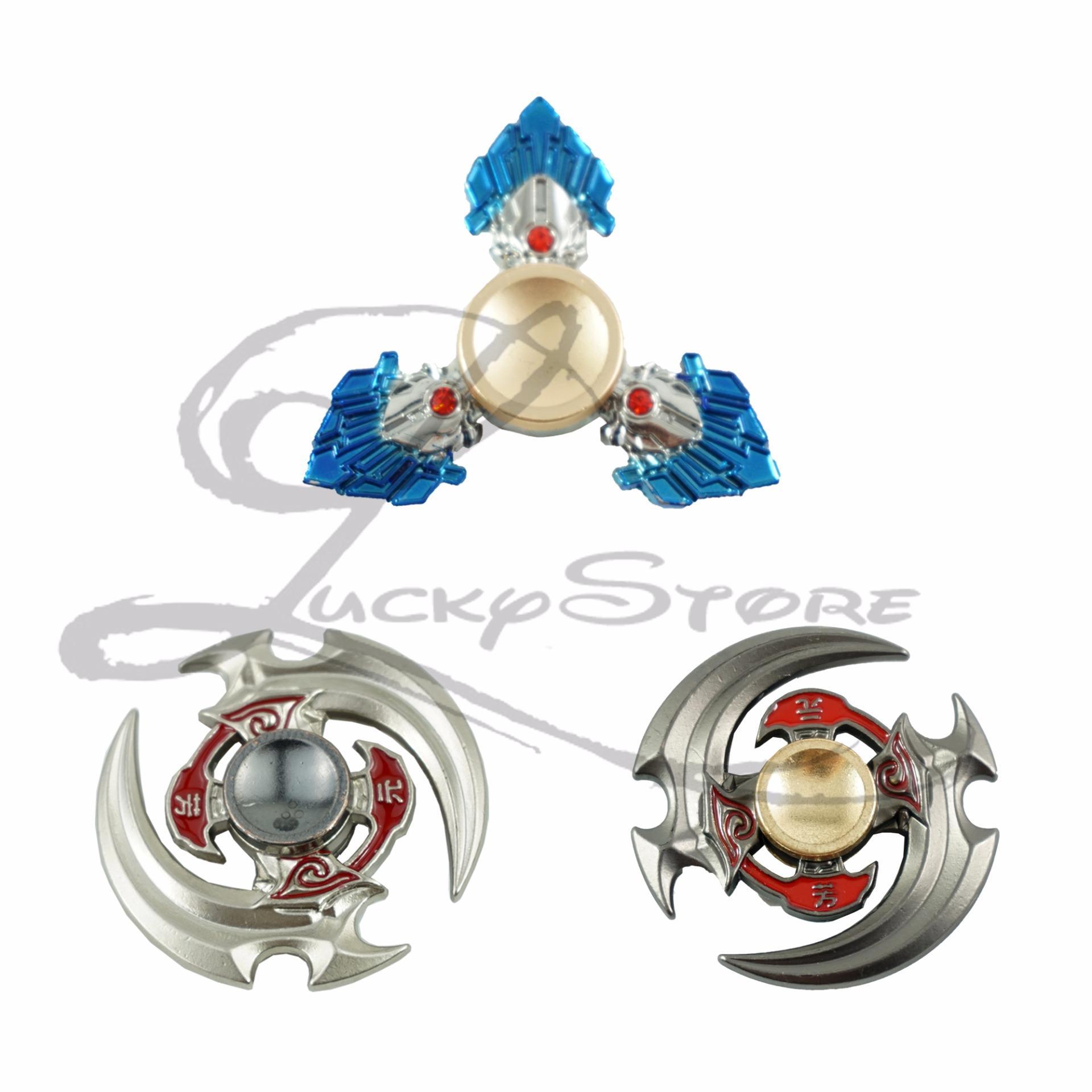 Lucky-Fidget Spinner Hand Spinner Senjata Anime Scythe Boomerang Diamond Sapphire Spiner Besi Hand