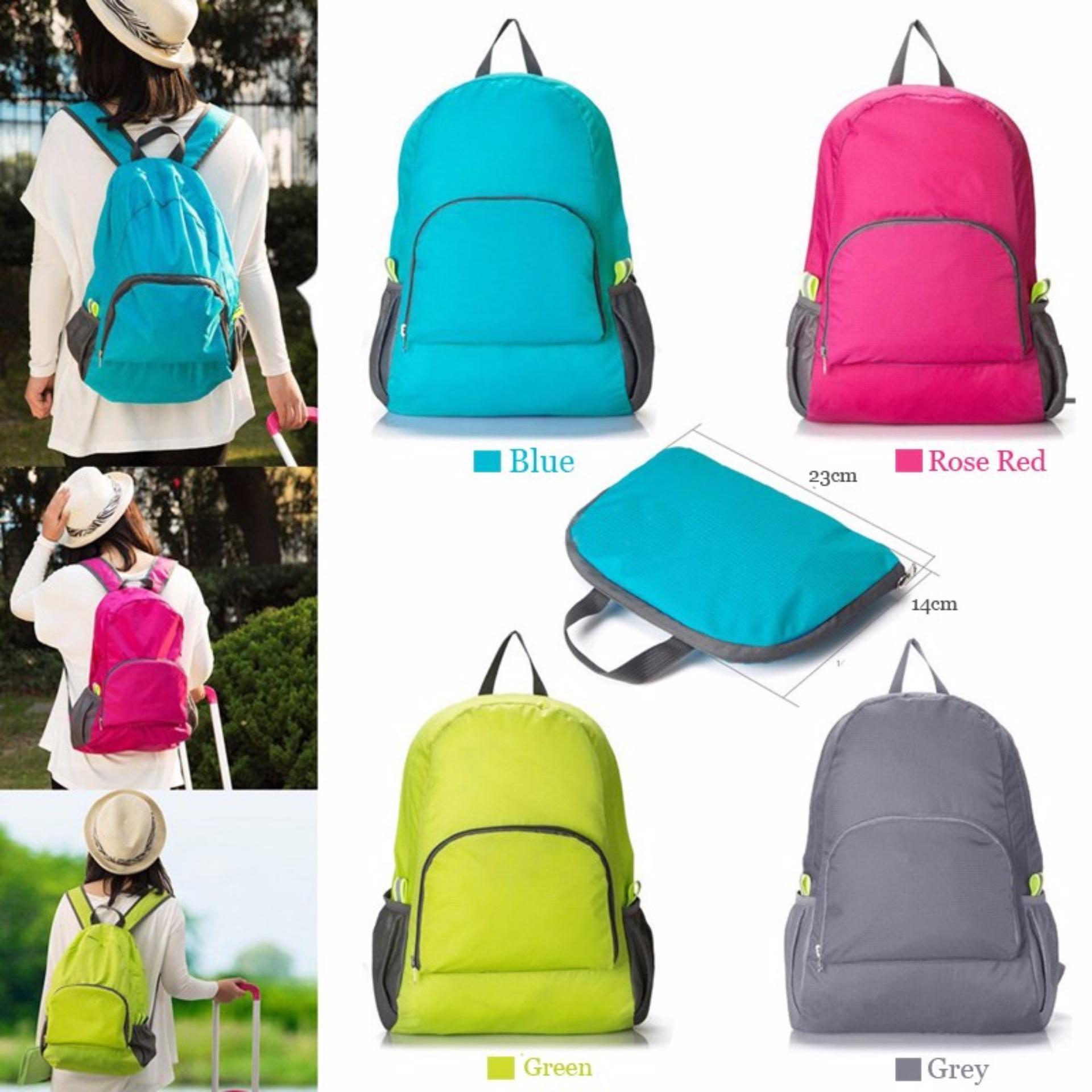Lucky - Foldable Backpack / Travel / Tas Punggung Lipat / Ransel Travelling - Random