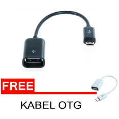 Lucky OTG Cable Connect Kit For Android - Hitam + Gratis Kabel OTG