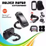 Jual Lucky Phone Holder Waterproof Holder Bag Holder Motor Anti Air For Smartphone Up To 5 7 Inches Hitam Lucky Murah
