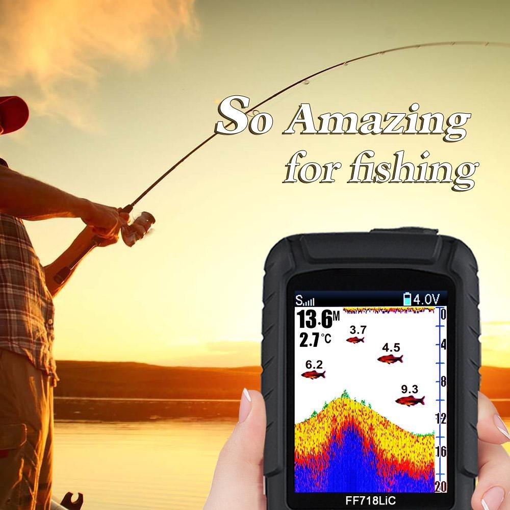 Lucky Wireless Portable Fish Finder 45 M 145 Kaki Kedalaman Tahan Air Sonar Ocean River Lake Ikan Detektor Internasional Lucky Diskon
