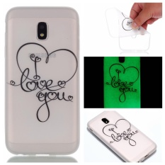 Luminous Effect Soft TPU Gel Case Protective Back Cover for Samsung Galaxy J7 (2017) J730 (European Version) (I Love You) - intl