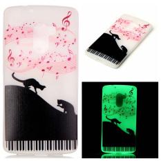Luminous TPU Phone Case untuk Lenovo VIBE K4 Note/Vibe X3 Lite-Musik dan Kucing