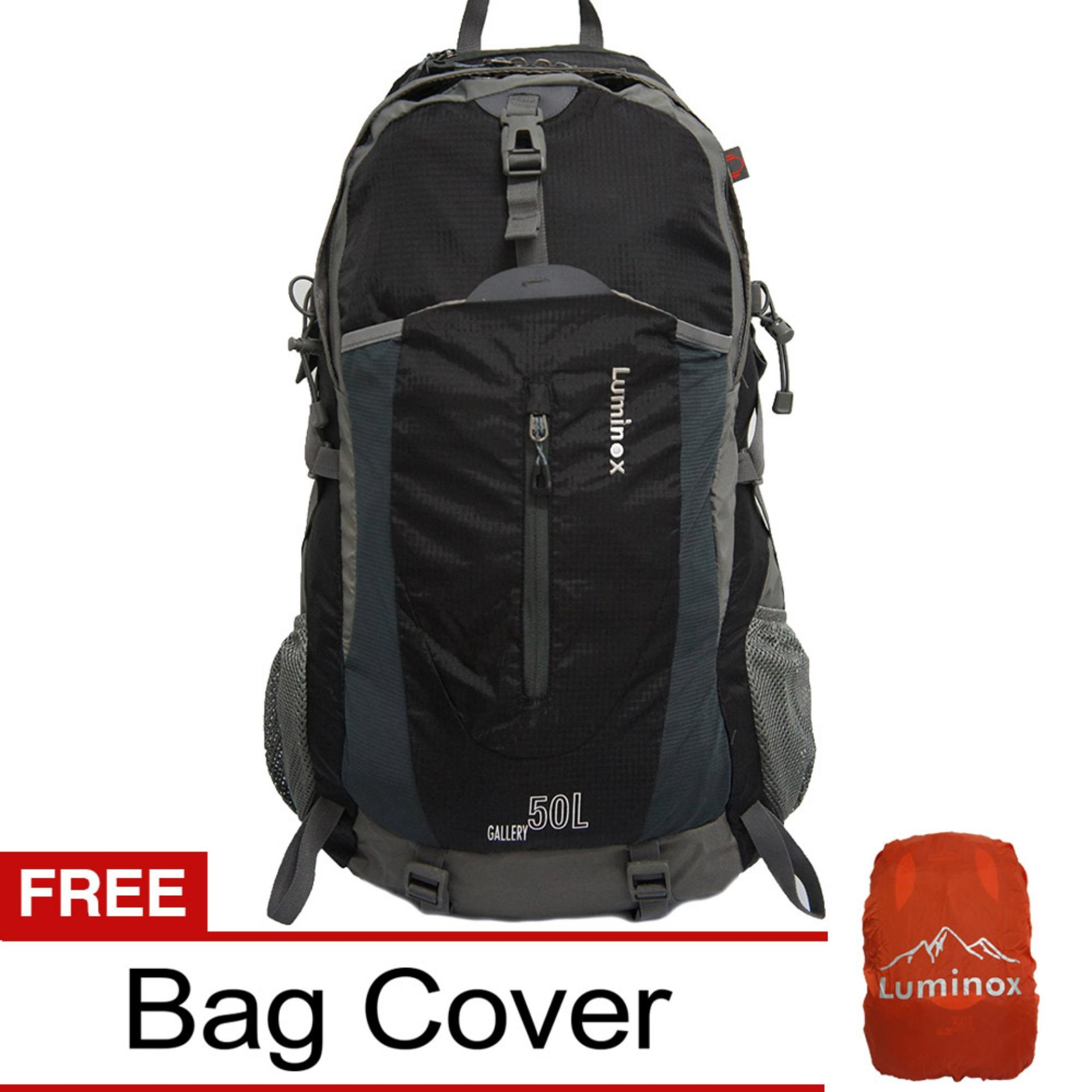 Toko Luminox Tas Hiking Backpack Ransel Travel Outdoor Carrier 5028 50 Liter Gratis Rain Cover Hitam Hk Indonesia