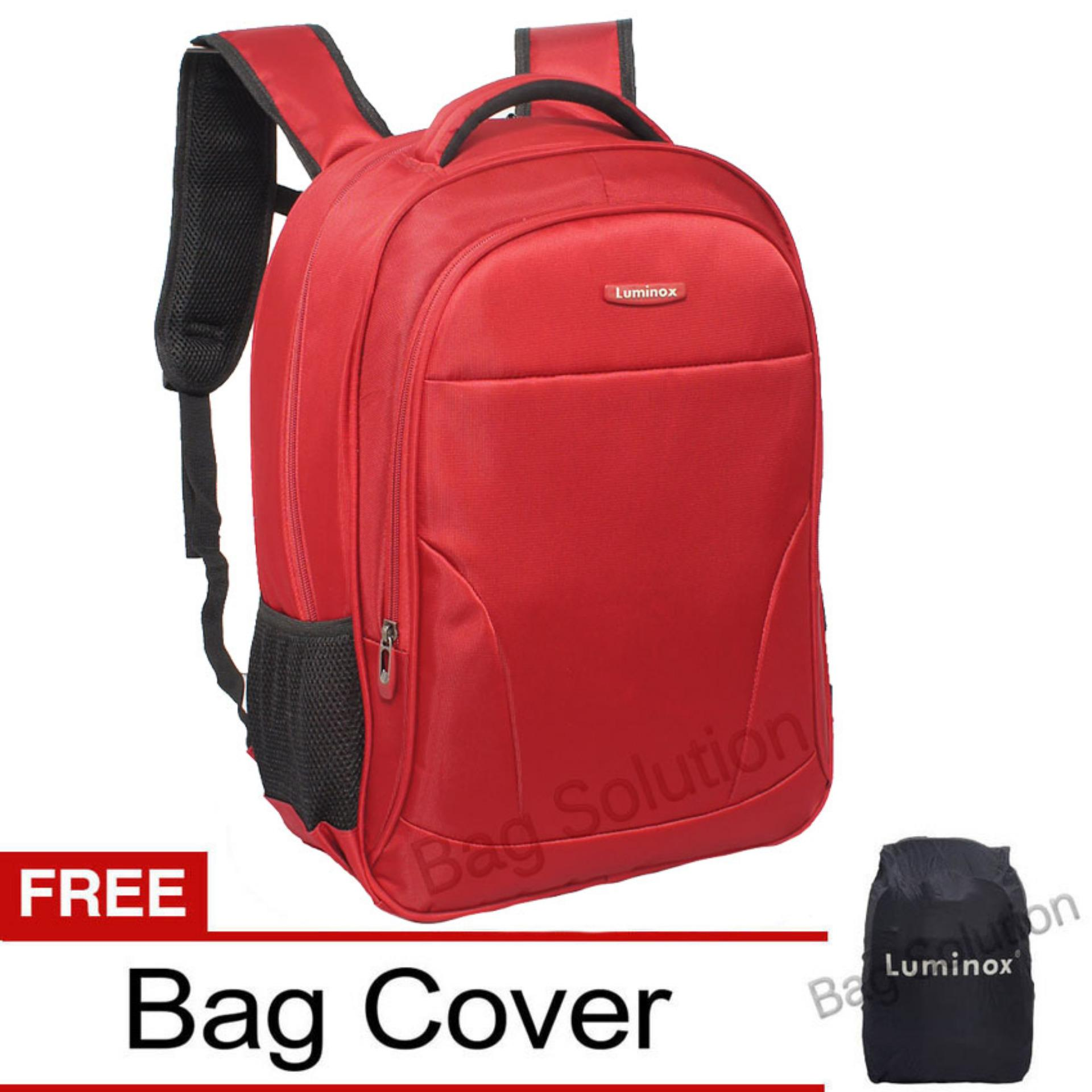 Jual Luminox Tas Ransel Laptop Tahan Air Tas Pria Tas Wanita 7723 Backpack Up To 15 Inch Bonus Bag Cover Merah Luminox