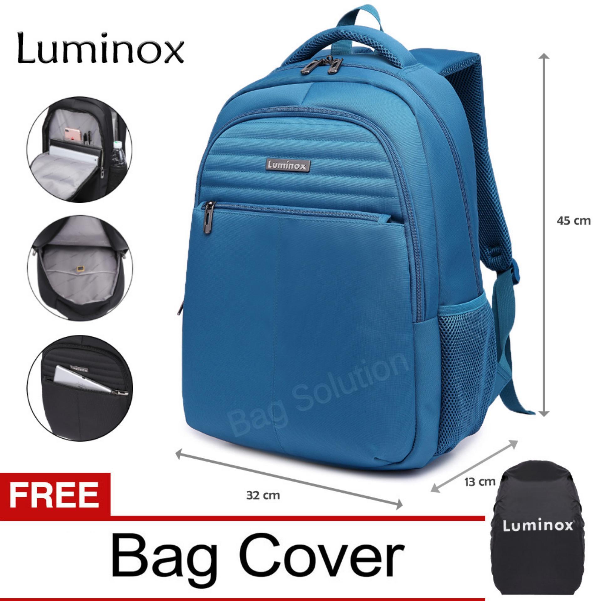 Spesifikasi Luminox Tas Ransel Laptop Tas Pria Tas Wanita Tas Laptop Backpack Up To 15 Inch Anti Air 5911 Biru Bonus Bag Cover Yg Baik