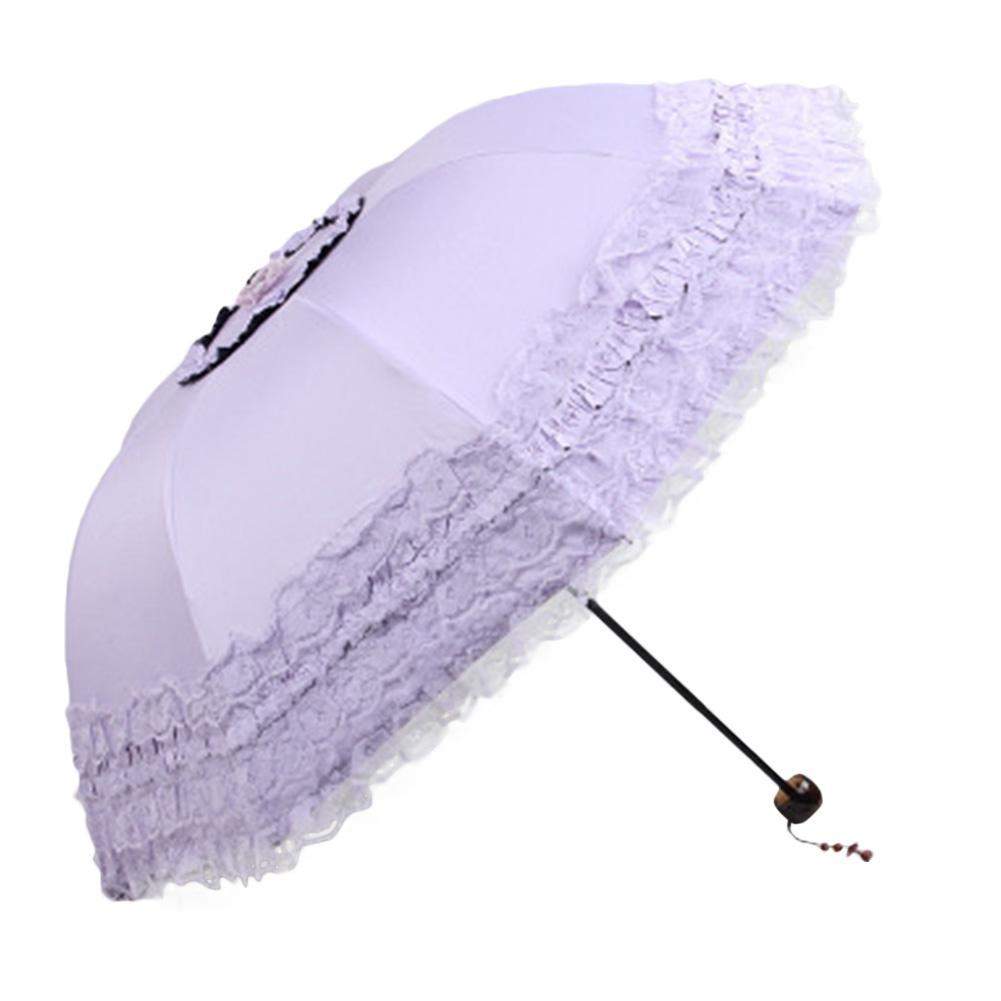 Lumiparty Renda Payung Putri Parasol Payung Ukuran: 55*8 K
