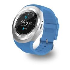 Lumiparty Jam Tangan Pintar Bluetooth dengan Kartu SIM Beberapa Fungsi Yang Kuat untuk Ponsel Cerdas Android Samsung HTC Sony LG huawei Lenovo dan iPhone Warna: biru