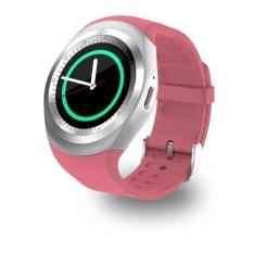 Lumiparty Jam Tangan Pintar Bluetooth dengan Kartu SIM Beberapa Fungsi Yang Kuat untuk Ponsel Cerdas Android Samsung HTC Sony LG huawei Lenovo dan iPhone Warna: merah Muda