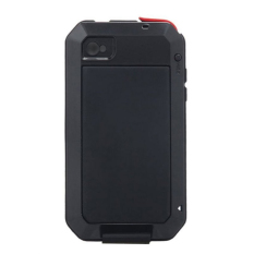 Lunatik Taktik Extreme Protection Case for Iphone 4 / iPhone 4S Corning Tempered Glass - Hitam