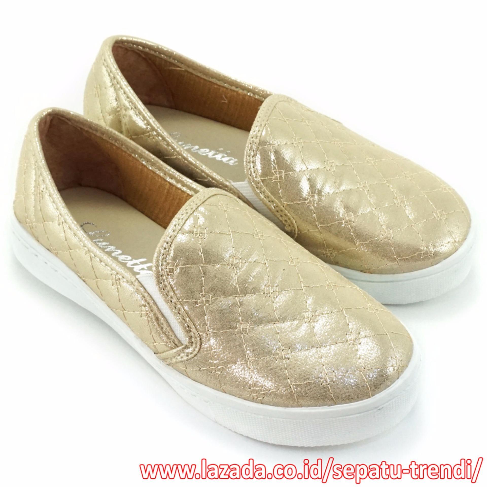 Harga Lunetta Sepatu Anak Perempuan Slip On Luxe Fcl Emas Original