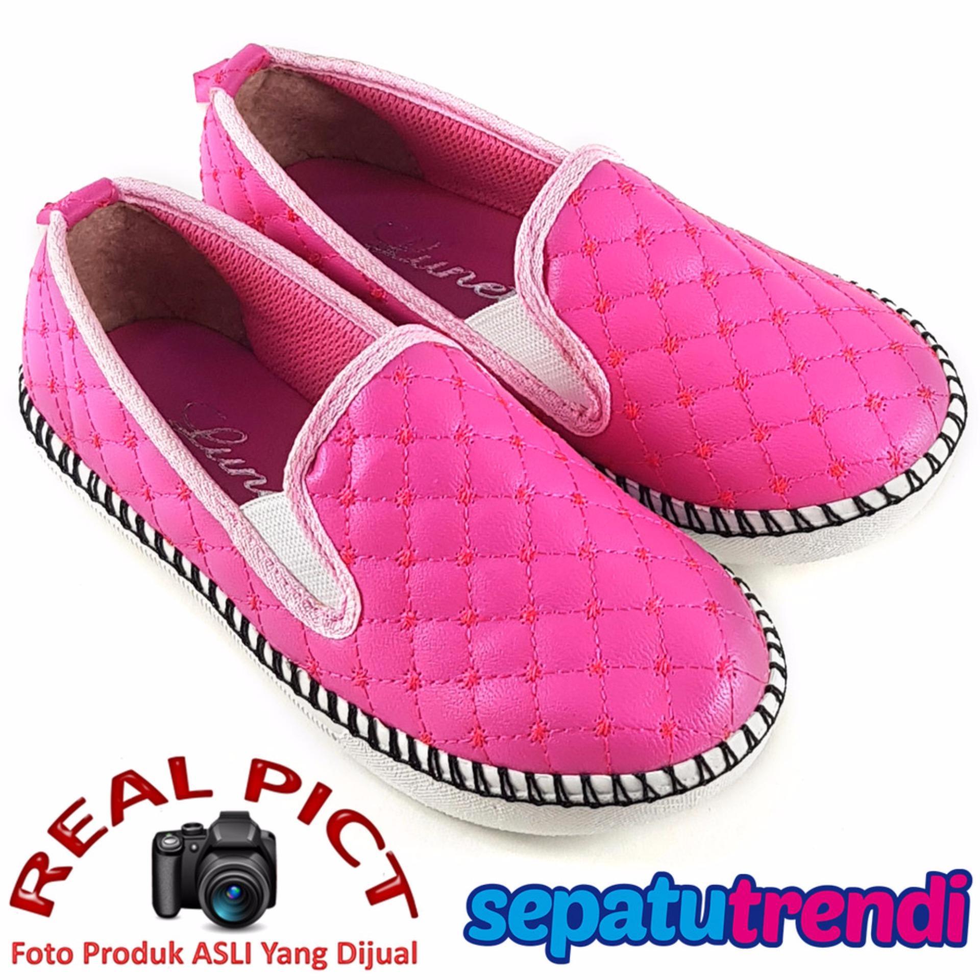Harga Lunetta Sepatu Anak Perempuan Slip On Sol Rajut Rjag Fuchsia Lunetta Terbaik