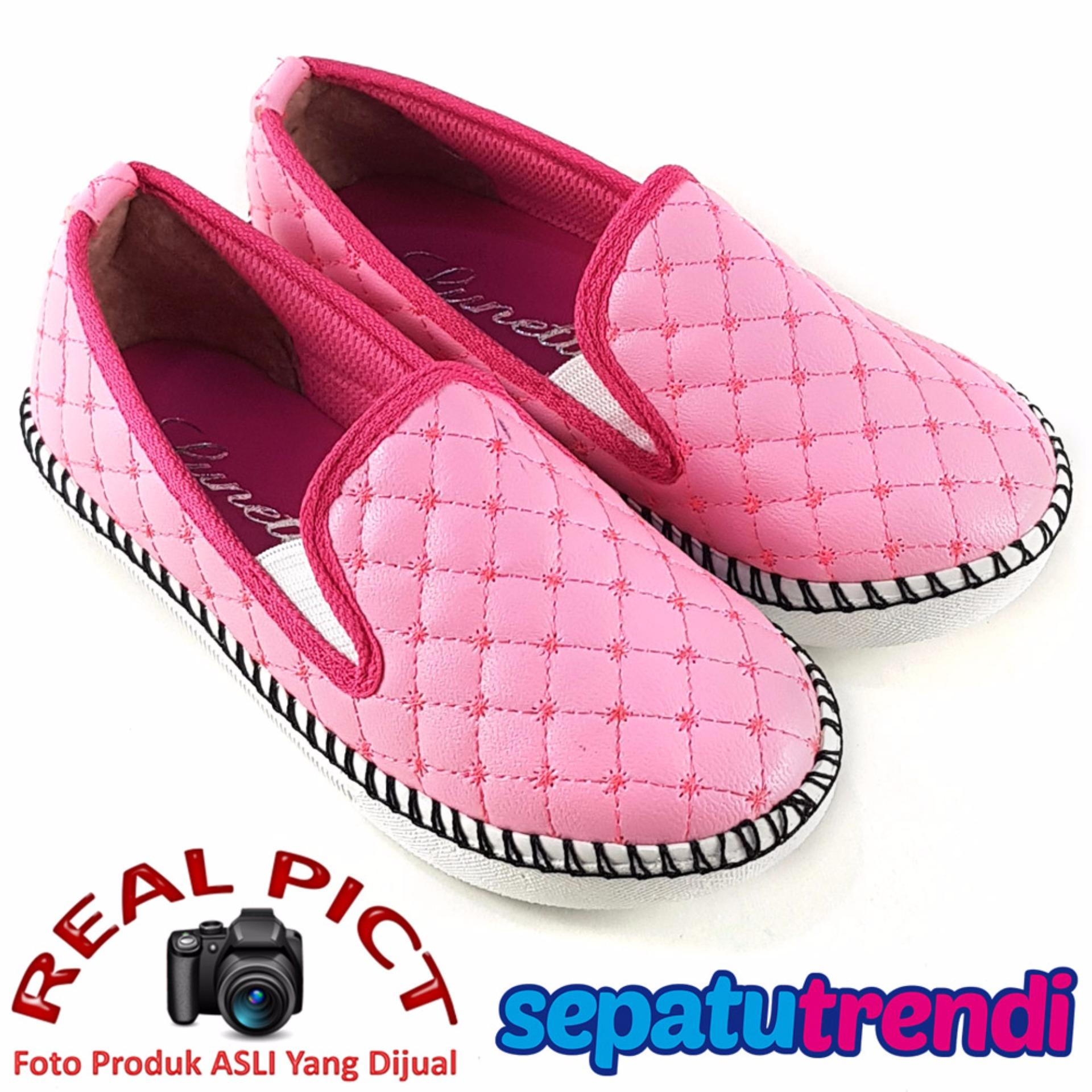 Spesifikasi Lunetta Sepatu Anak Perempuan Slip On Sol Rajut Rjag Pink Baru