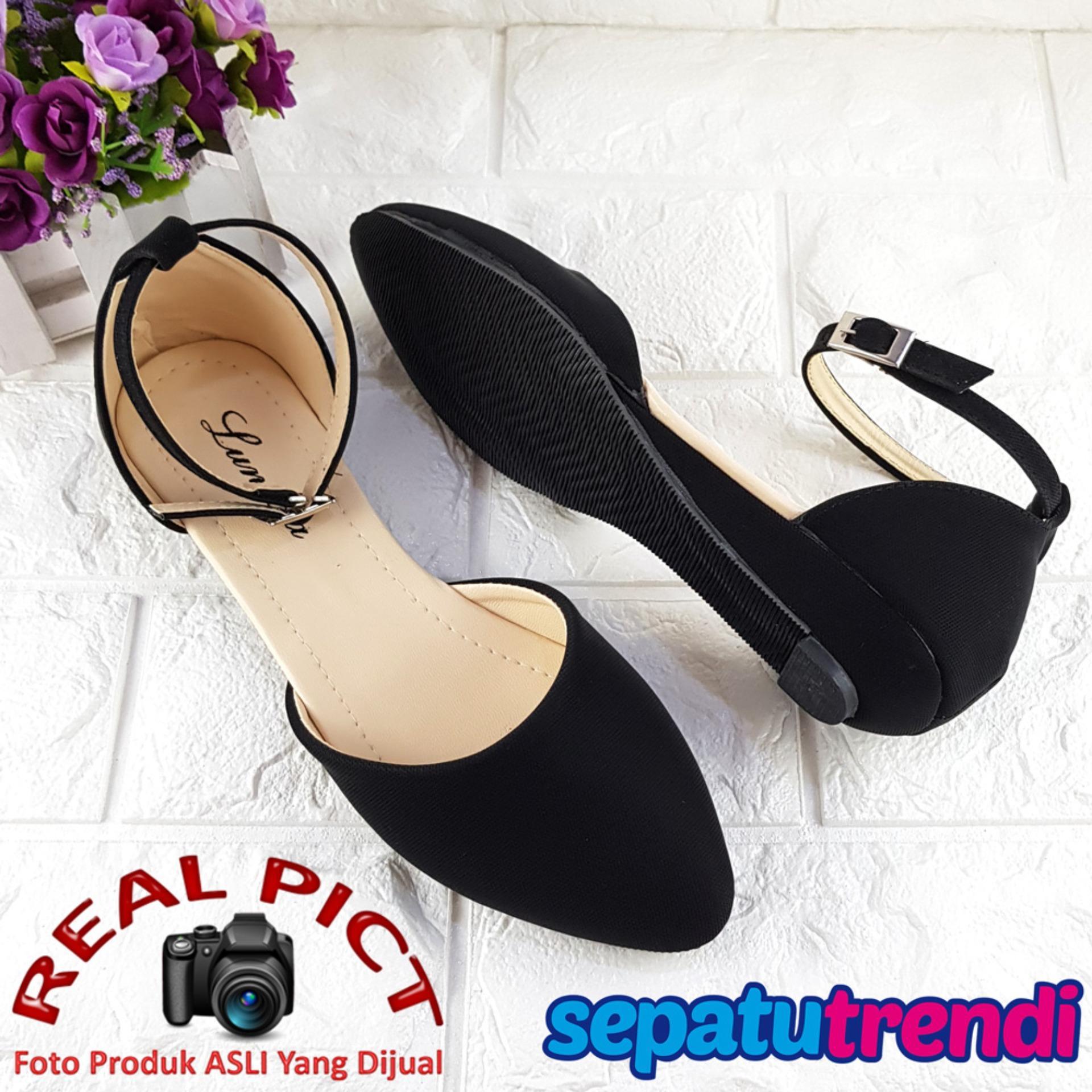 Dapatkan Segera Lunetta Sepatu Wanita Hak Pendek D Orsay Ankle Bracelet Luglhk