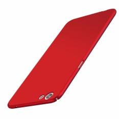 LUOWAN R9s Case dengan Lancar Kulit Shockproof Ultra Tipis Slim Full Body Pelindung Cover untuk OPPO R9s 5.5-inch (merah) -Intl