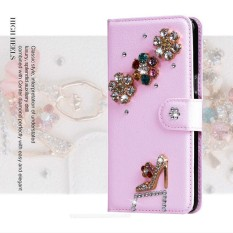 Wanita Mewah Buatan Tangan Berlian Imitasi Berlian Kulit Dompet Sarung Case untuk Acer Liquid Z630-Internasional