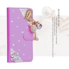 Wanita Mewah Buatan Tangan Berlian Imitasi Berlian Kulit Dompet Sarung Case untuk Huawei Mate 9 Pro-Internasional