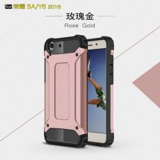 Luxury 2 In 1 Hybrid Tahan Lama Shield Armor Shockproof Hard Rugged Phone Case Cover untuk Huawei Honor 5A/Y6II Y6 2/Holly 3-Intl