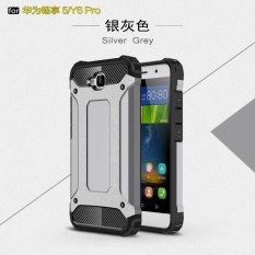 Luxury 2 In 1 Hybrid Tahan Lama Shield Armor Shockproof Hard Rugged Phone Case Cover untuk Huawei Y6 Pro/Honor Holly 2 Plus/Nikmati 5-Intl