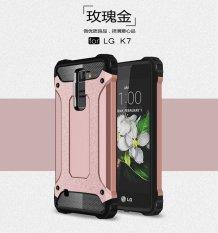 Luxury 2 In 1 Hybrid Tahan Lama Shield Armor Shockproof Hard Rugged Phone Case Cover untuk LG K7/Tribute 5 LS675/X210 X210DS-Intl