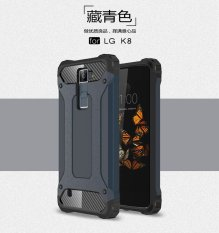 Luxury 2 in 1 Hybrid Tahan Lama Shield Armor Shockproof Hard Rugged Phone Case Cover Untuk LG K8/Phoenix 2 /Escape 3/K350N