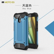 Luxury 2 In 1 Hybrid Tahan Lama Shield Armor Shockproof Hard Rugged Case Cover untuk Motorola MOTO E3-Intl