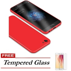 Harga Luxury 360 Protective For Vivo V5 V5S V5 Lite Translucent Ultra Thin Soft Back Case Cover Red Free Tempered Glass Termahal