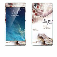 Mewah 3D Lukisan Depan + Belakang Penuh Case Cover Warna Tempered Glass Case untuk Vivo Y51A 5.0