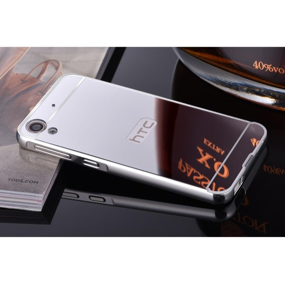 LUXURY ALUMINIUM ULTRA-TIPIS MIRROR METAL FRAME BACK CASE COVER untuk HTC Desire 628-Intl