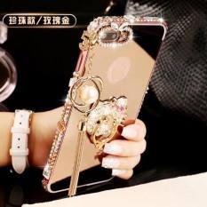 Luxury Diamond Bingkai Logam Pasta Drill Kembali Cover Case untuk HTC Desire 10 Gaya Hidup?-Intl