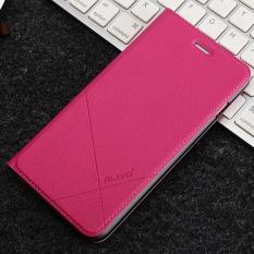 Cantik Rhinestones Ungu Bunga Mawar Putih Tas Kasus Flip Kulit Penutup untuk Samsung Galaxy Note5.