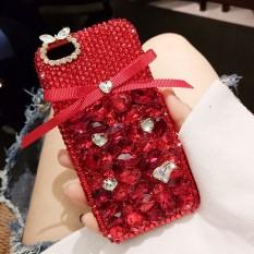 Mewah Modis Buatan Tangan DIY Manis Lucu Ikatan Simpul Bling Kristal Berlian Case Sarung untuk Lenovo K8 Plus-Internasional
