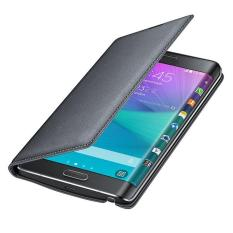 Flip Leather Case Cover untuk Samsung Galaxy Note Edge N9150 Hitam-Intl