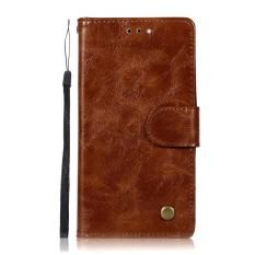 Luxury Leather Case untuk ZTE Avid 4 Vintage Dompet Phone Case Stand Shockproof Card Slot Flip Cover (Cabai Merah) -Intl