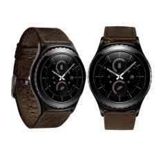 Luxury Leather Watch Band Wrist Strap untuk Samsung Galaxy Gear S2 Klasik BW-Intl