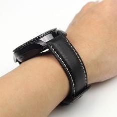Pusat Jual Beli Luxury Leather Watch Gelang Tali Band Untuk Samsung Gear S3 Frontier Klasik Bk Intl Tiongkok