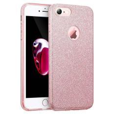 Makeup Mewah Seri Shinning Bumper Pelindung Sparkle Bling Glitter Case Untuk Iphone 6 Plus 6 S Plus Pink Intl Ningmao Diskon