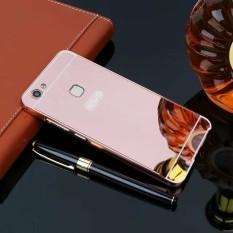 Mewah Cermin Kasus untuk Vivo V7 Aluminium Bingkai Logam Cangkang Sampul Belakang untuk Vivo V7-
