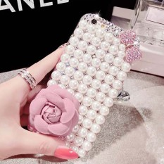luxury Pearl Rhinestone Diamond Crystal Glitter Flower Bling Case Cover Forvivo X20 Plus