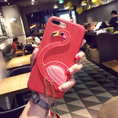 Luxury PU Leather Cute 3D Flamingo Back Cover Cases For HTC Desire 520(red) - intl