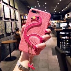 Mewah PU Leather Cute 3D Flamingo Kembali Cover Case untuk Lenovo K8 Plus (pink)-Intl