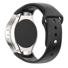 Silikon Jam Tangan Tali Tali Mewah untuk Samsung Galaksi Perlengkapan S2 SM-R720 BK-Internasional