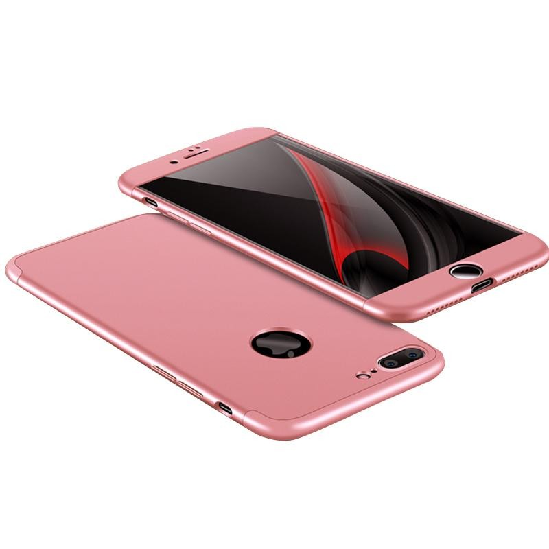 Luxury Slim Armor Hard Case untuk Apple Iphone 7 Plus 3-In-1 360 Degree Full Body Protection Back Cover Case Warna: Rose Gold