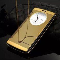 Luxury Slim Smart Lingkaran Pandangan Auto Tidur Elektroplating Keras Cermin Flip Penutup Kasus Telepon Jelas Sarung Tampilan untuk LG G4 H818 h815-Intl
