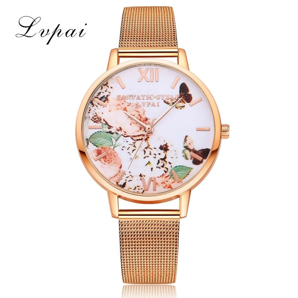 Review Terbaik Lvpai Watches Wanita Quartz Arloji Jam Wanita Dress Hadiah Watches Rose Emas