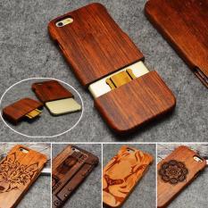 100% Buatan Tangan Bambu Asli Kayu Wood Case Cover untuk IPhone 6 Plus 6 S Plus LYBALL -Intl