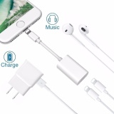 Tips Beli Lyball Iphone 8X7 Plus Lightning Splitter Adaptor Panggilan Charge Music Dual Adaptor Petir Headphone Jack Audio Dan Mengisi Kabel Adaptor Untuk Iphone 8 7 7 Plus Suport Ios 10 3 Ios 11 Plug Bermain Intl Yang Bagus